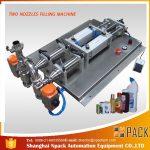 نیم آٹومیٹک ڈیفومنگ کوروسیو مائع بھرنے والی مشین۔