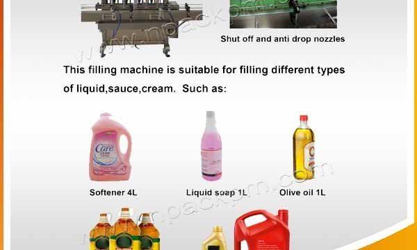 خودکار 2 ، 4 ، 6 ، 8 ، 10 ، 12 ہیڈز خوردنی باورچی خانے سے متعلق تیل بھرنے والی مشین۔