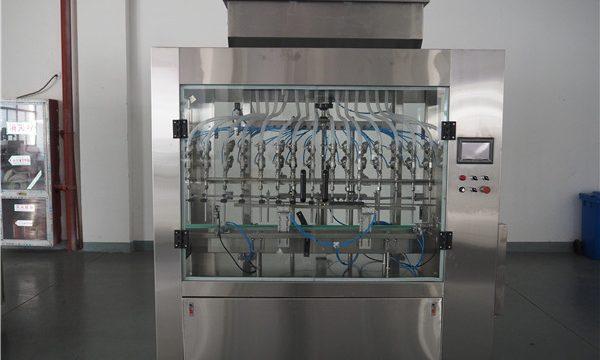 خود کار طریقے سے 12 سر ماحولیاتی دباؤ مائع بھرنے والی مشین۔