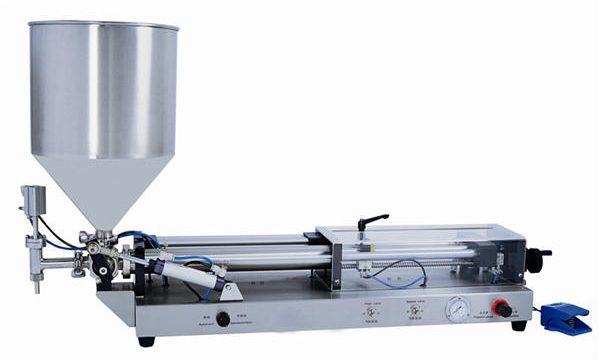 نیم آٹومیٹک پیسٹ بھرنے والی مشین 3mL-5L کے لئے۔