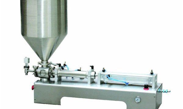 نیم آٹومیٹک کالامین لوشن پیسٹ / مائع بوتل پستن بھرنے والی مشین۔