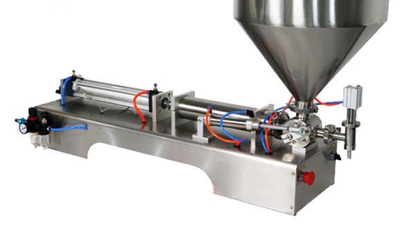 نیم خودکار پسٹن موٹی چٹنی بھرنے والی مشین۔